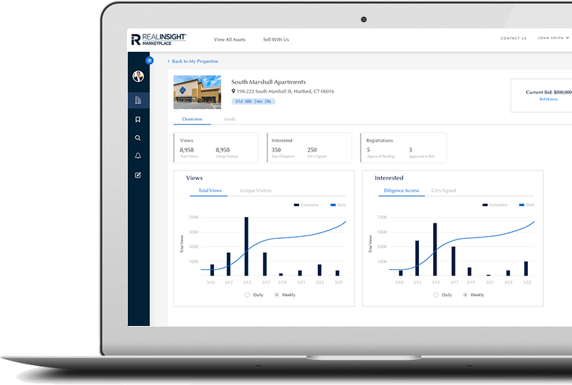 RealINSIGHT Marketplace Broker Dashboard